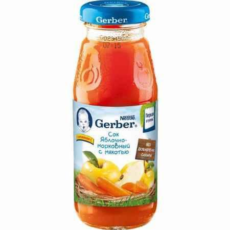 Купить Gerber Сок Яблоко Морковь с 5 мес., 175 мл