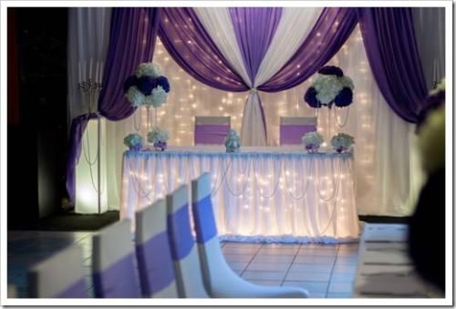 правила украшения свадебного зала