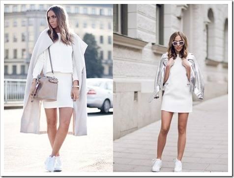Городской стиль: высокие женские кроссовки