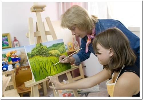 обучаем рисованию детей