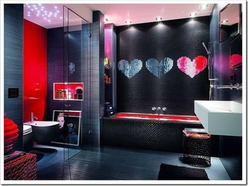 Зачем делать интерьера ванной комнаты яркой?