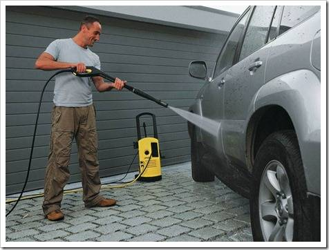 Как мыть машину мойкой высокого давления?
