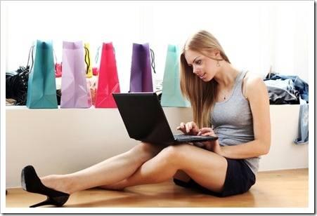 Покупка женской футболки в Интернет-магазине