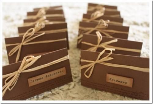 Рассадочные карточки для свадебного стола