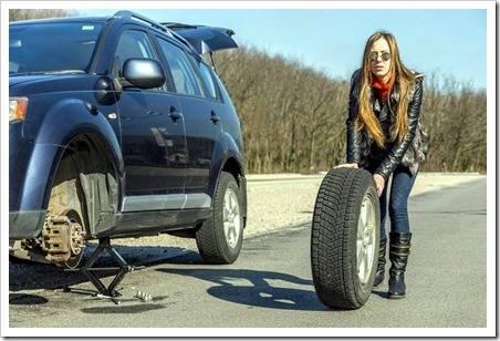 Методика замены колеса