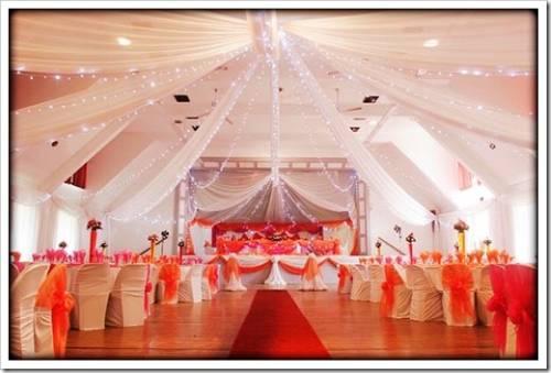 Оформление зала для свадебного торжества