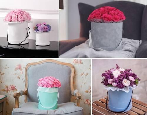 Как сделать коробку с цветами