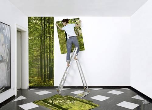 Как наклеить фотообои на стену