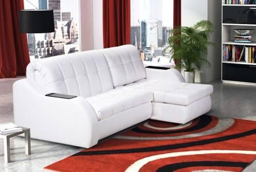 Белый диван аккордеон