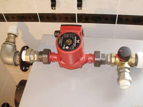 Монтаж циркуляционный насос для отопления