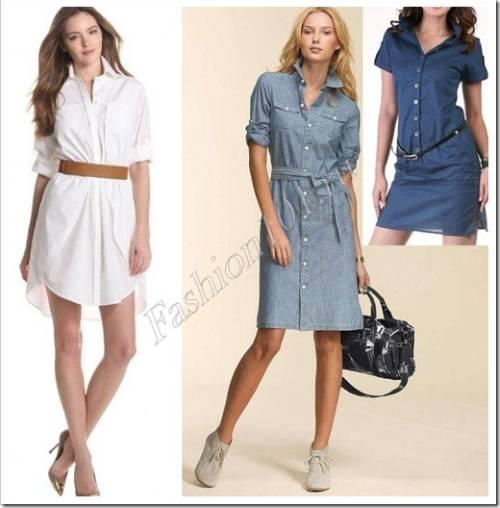 Какая должна быть фигура для платья-рубашки?