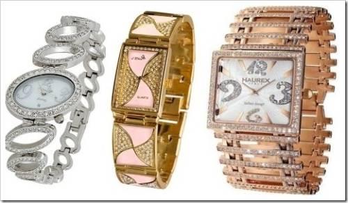 Женские часы и кристаллы Swarovski
