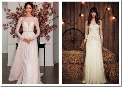Прямые свадебные платья с длинным рукавом