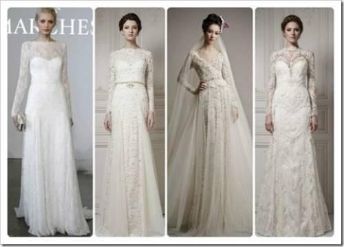 Особенности платьев с длинным рукавом