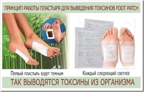Быстрое очищение от шлаков с детокс пластырем для стоп Foot Patch
