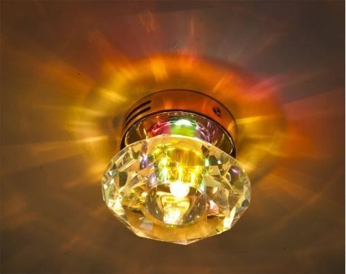 Монтаж накладных светильников