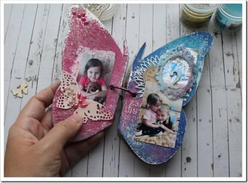 Детский альбом-бабочка своими руками