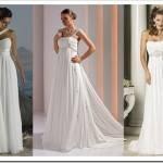 Свадебное платье невесты в греческом стиле