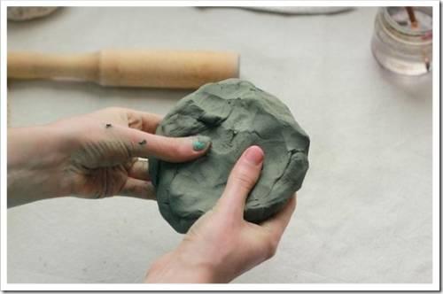 Вымачивание и высушивание глины