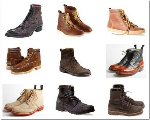 Наиболее популярные мужские ботинки
