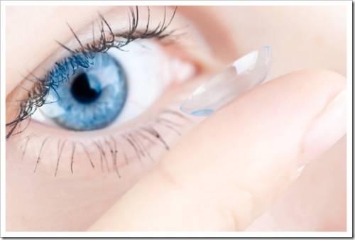 Способ удаления контактных линз