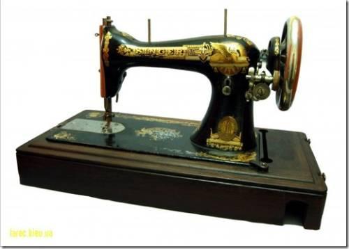 История изобретения швейной машинки.