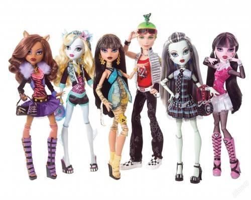Как девочки играют в куклы Монстер Хай