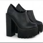 Обувь на высоком, толстом каблуке