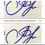 Установление подлинности подписи