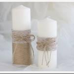Различные способы украшения свадебных свеч