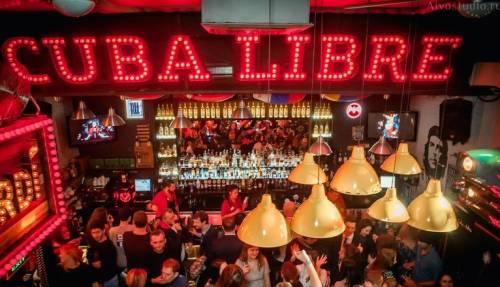 Популярная сеть баров с кубинской атмосферой Cuba libre bar в Москве