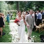 Свадебный банкет летом