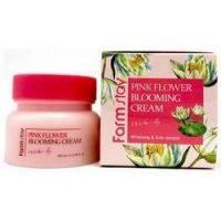 Купить FarmStay Pink Flower Blooming Cream - Крем для лица с экстрактом водяной лилии, 100 мл