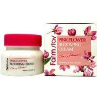Купить FarmStay Pink Flower Cherry - Крем для лица с экстрактом цветов вишни, 100 мл