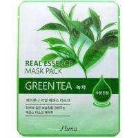 Купить Juno Real Essence Mask Pack Green Tea - Маска тканевая с зеленым чаем, 25 мл