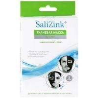 Купить Salizink - Маска детокс с древесным углем для жирной и комбинированной кожи, тканевая, 3 шт