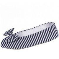 Купить Isotoner - Балеринки 97146 на кожаной подошве, текстиль синий, размер 41-42