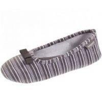 Купить Isotoner - Балеринки 93953 на резиновой подошве, Велюр серый, размер 35-36