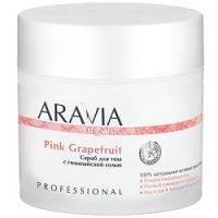 Купить Aravia Professional Organic Pink Grapefruit - Скраб для тела с гималайской солью, 300 мл
