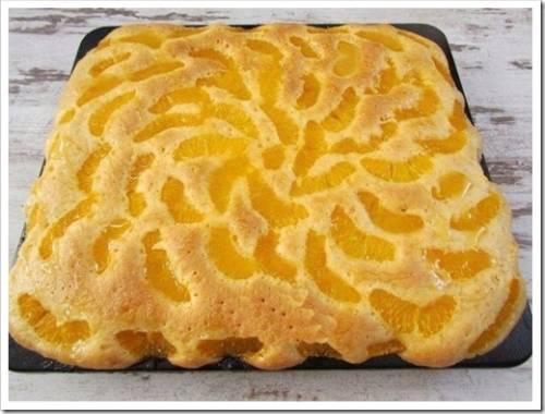 Рецепт с мандаринами на противне