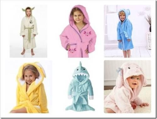 Виды детских халатов и особенности выбора