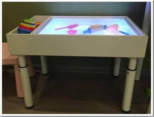 Польза световых песочниц и рисования песком для детей